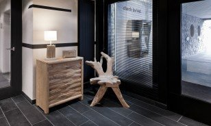 "Design furniture at the rooms of the Morosani ""Fiftyone"" Hotel in Davos"