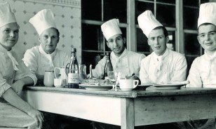 Historic Photo of Pöstli Restaurant Chefs