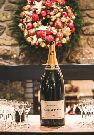 A bottle Champagne and glasses