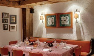 Tables in La Cave Restaurant by Morosani