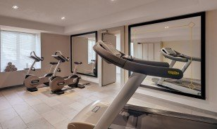 "Fitness room at the Morosani ""Schweizerhof"" in Davos"